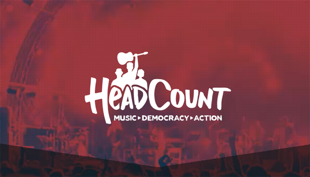 Register to vote at a concert by text message with HeadCount