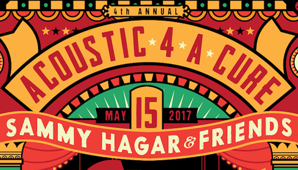 Sammy Hagar, James Hetfield announce annual Acoustic-4-A-Cure lineup