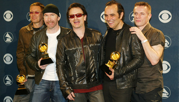 U2, Bono, The Edge, Adam Clayton, Larry Mullen Jr., Daniel Lanois, Grammy