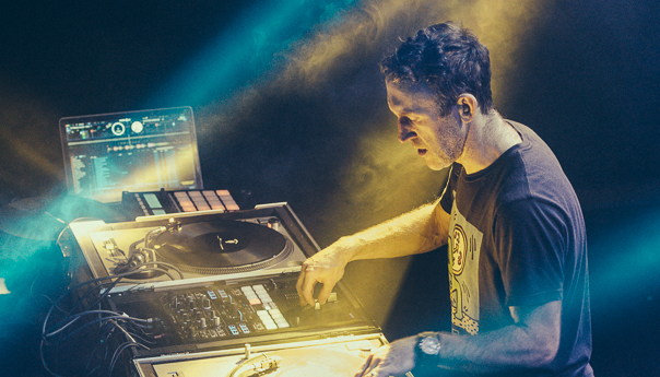 PHOTOS: RJD2 goes crate-digging at Berkeley's Cornerstone