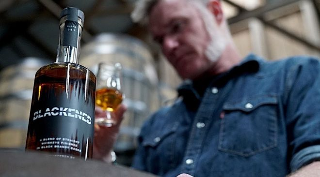Rock'N Vino: Distiller Rob Dietrich plays metal for Metallica's Blackened Whiskey barrels